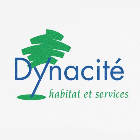 Identité visuelle de la marque Dynacité créée par l'Agence NYMEO